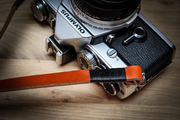 Whipped Thread Leather Camera Straps