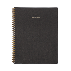 2019 Charcoal Grey Year Task Planner