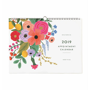 2019 Garden Party Appointment Calendar