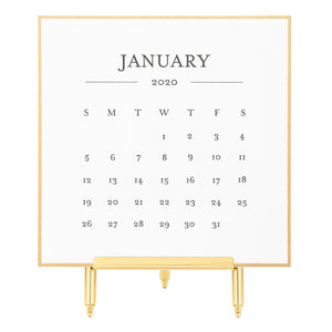 2020 Black & Gold Desk Calendar