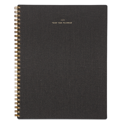 2020 Charcoal Grey Year Task Planner