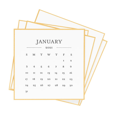 2021 Black & Gold Desk Calendar Refill