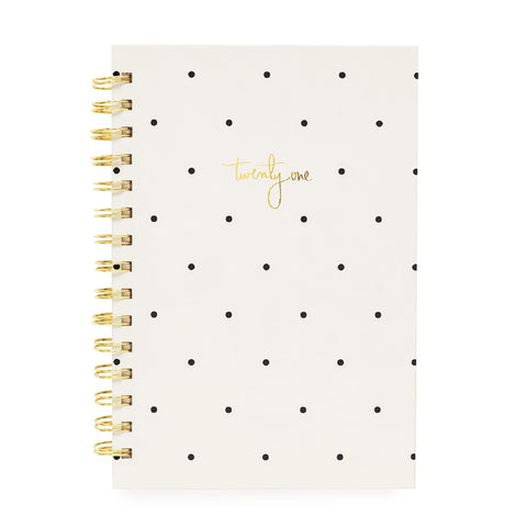2021 Cream & Dot Weekly Pocket Planner