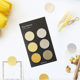 Assorted Yellow Circle Stickies