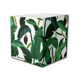 Banana Leaf Sticky Notes Cube