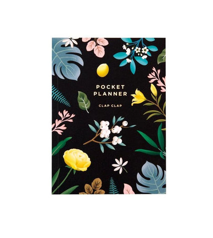 Black Botanical Pocket Planner