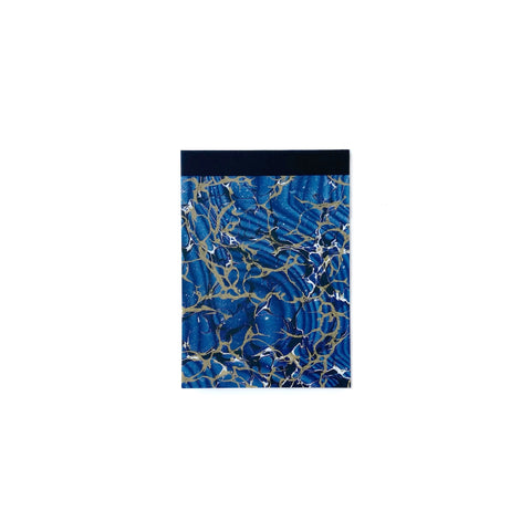 Blue Marbled Pocket Memo Pad