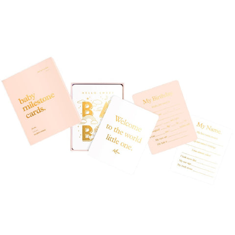 Blush Baby Milestone Card Set