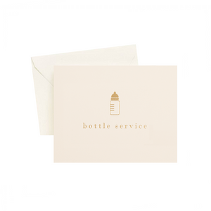 Bottle Service Card