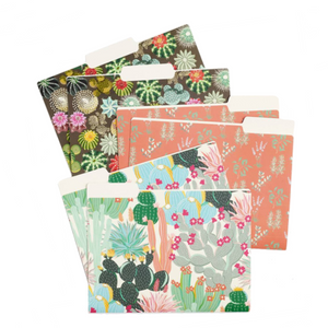 Cactus File Folder Set