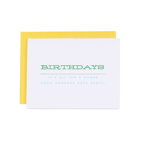 It's All Fun & Games Birthday Card