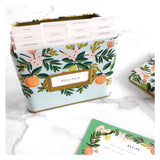 Citrus Floral Recipe Card Set