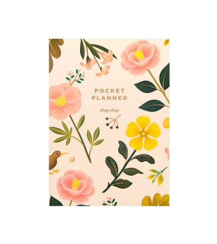 Cream Blossom Pocket Planner