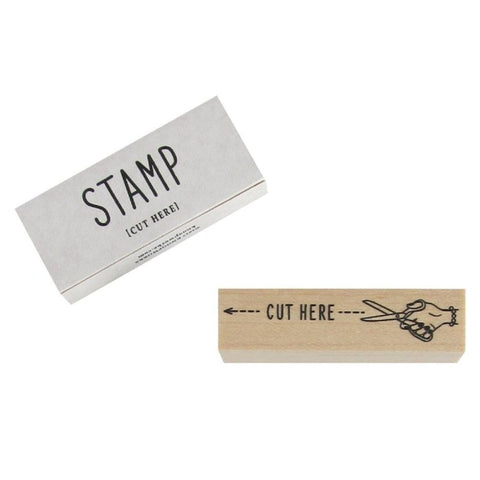 Cut Here Stamp