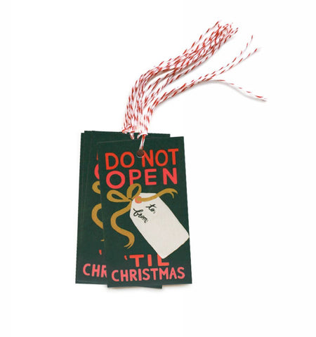 Don't Open 'Til Christmas Tags
