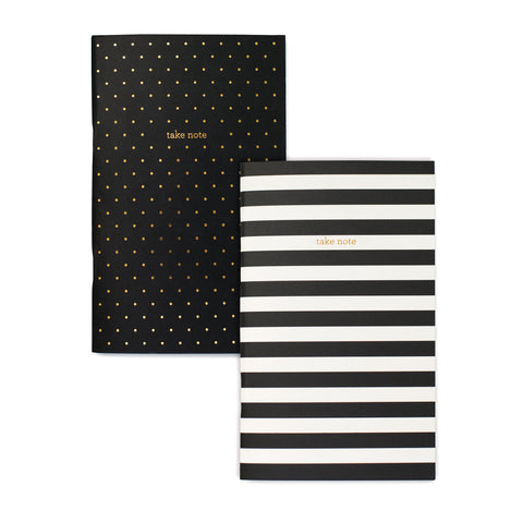 Dot & Stripe Pocket Notebook Set
