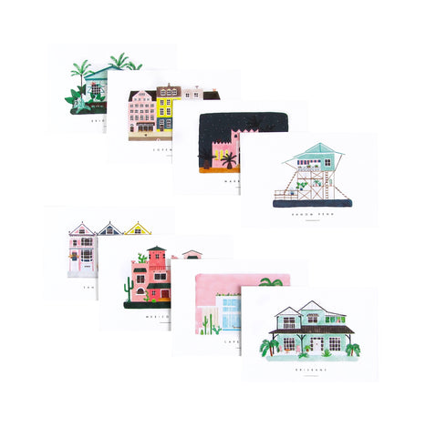 Dream Houses Postcard Set