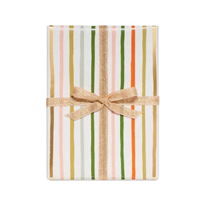 Festive Stripes Wrapping Paper