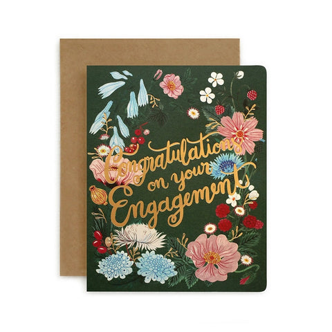 Folk Congratulations on Your Engagement Card