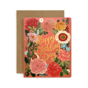 Folk Happy Wedding Day Card