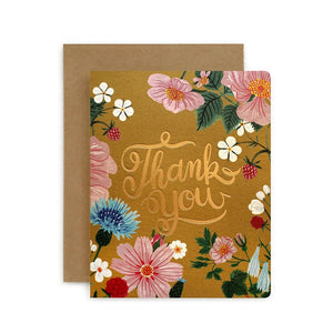 Folk Thank You Card