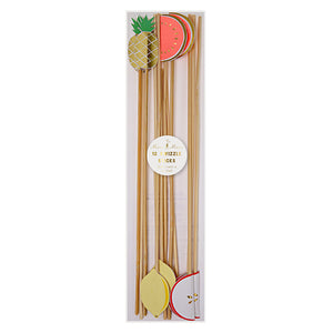 Fruity Cocktail Swizzle Sticks