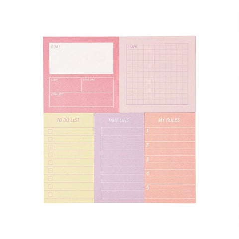 Goal Planner Sticky Note Set