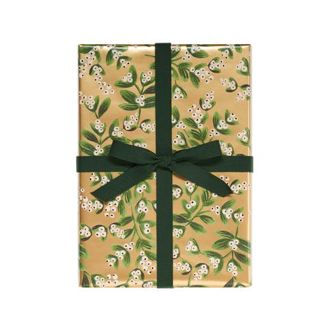 Gold Botanical Wrapping Paper