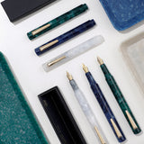 Green Marbled Pocket Fountain Pen