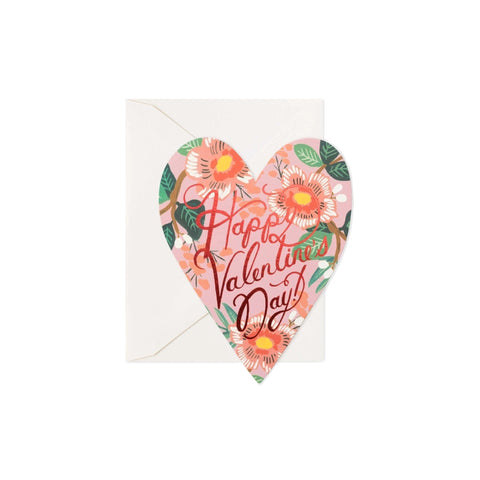 Heart Blooms Valentine Card