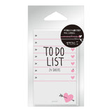 Hearts To Do List Sticky