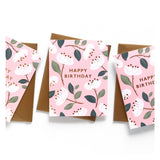 White Magnolia Birthday Card