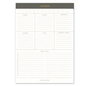 Ledger Weekly Pad
