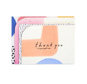 Colour Block Thank You Card Set