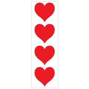 Medium Red Heart Stickers