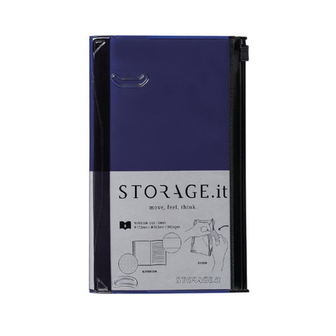 Mini Navy Storage Notebook