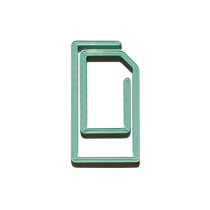 Mint Paperclip Bookmark