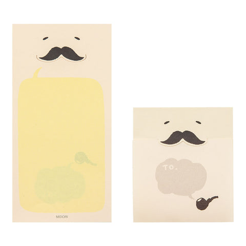 Secret Moustache Sticky Memo