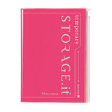 Neon Pink Storage Notebook