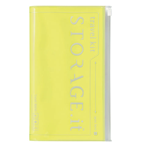 Neon Yellow Storage Travel Wallet