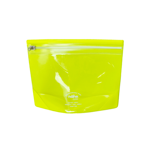 Neon Yellow Zipper Pouch