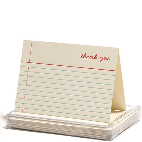 Notes Thank You Card Set