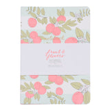Fruit & Flowers Trio Notebook Set