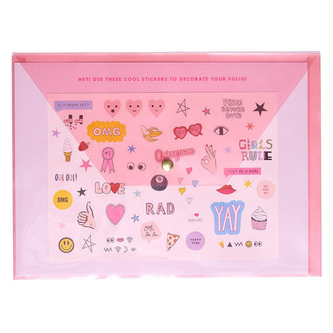 Peekaboo Folio + Sticker Set