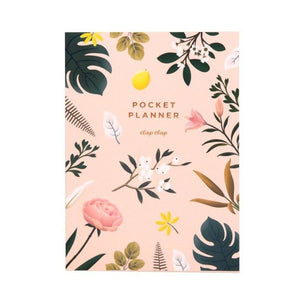 Pink Botanical Pocket Planner