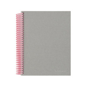 Pink & Grey Spiral Notebook