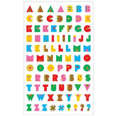 Retro Alphabet Stickers