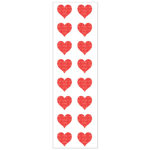 Sparkle Red Heart Stickers