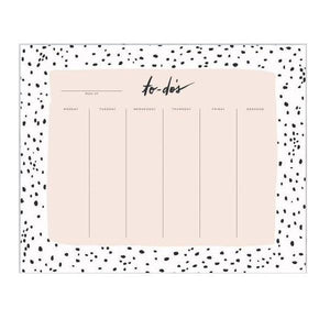 Speckled Weekly Desk Pad