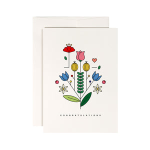 Summer Blossom Congratulations Card